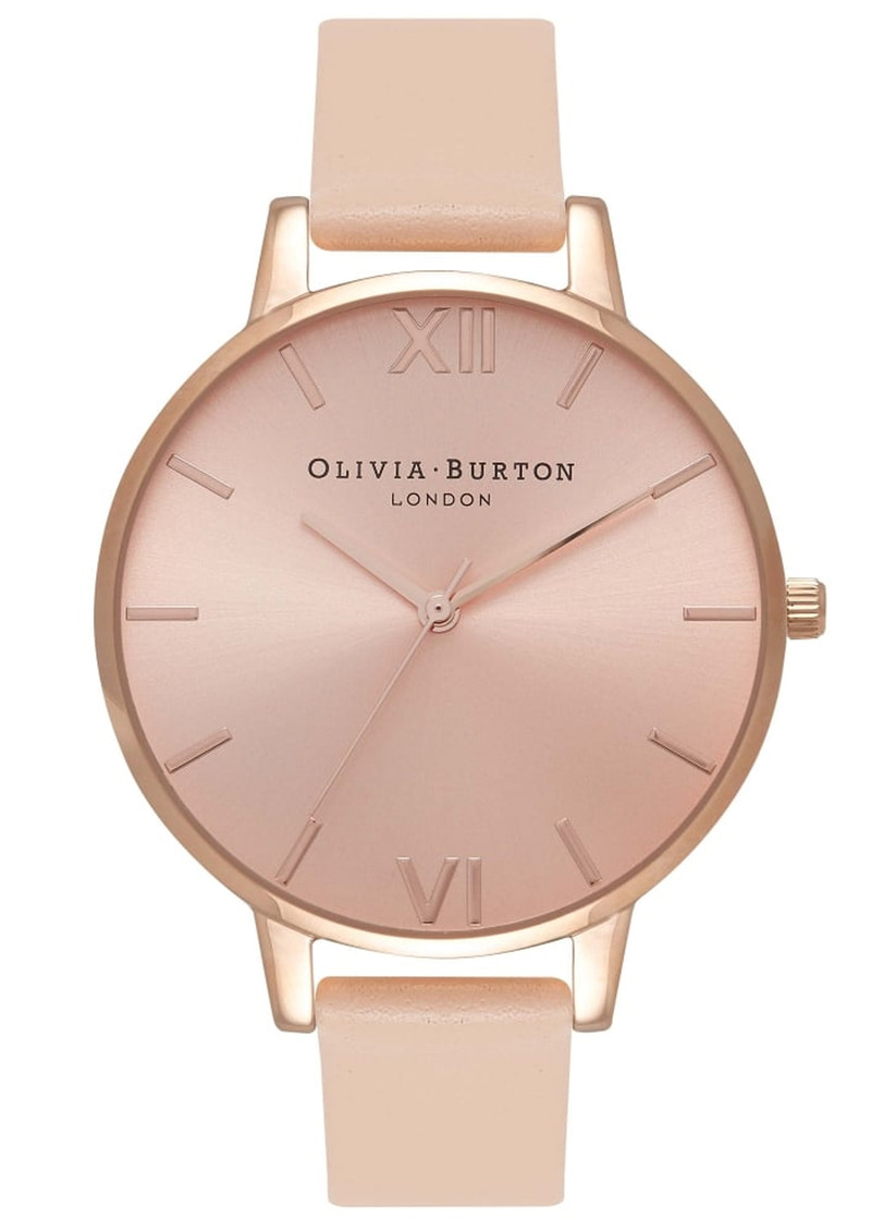 Olivia Burton Big Dial Watch - Nude Peach & Rose Gold  main image