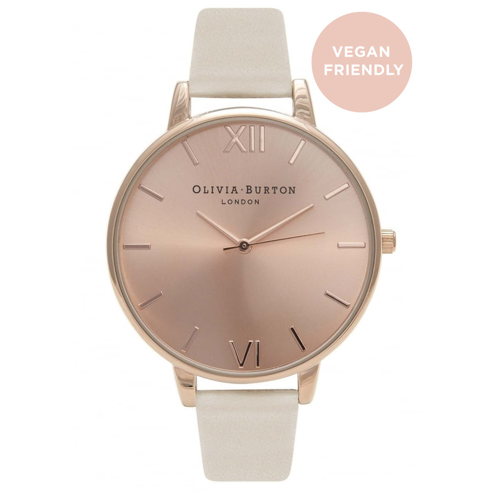 Big Dial Vegan Friendly Watch - Nude & Rose Gold