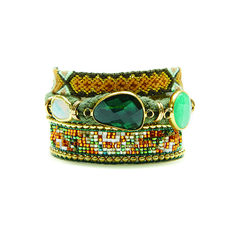 Naishville Bracelet - Green & Gold