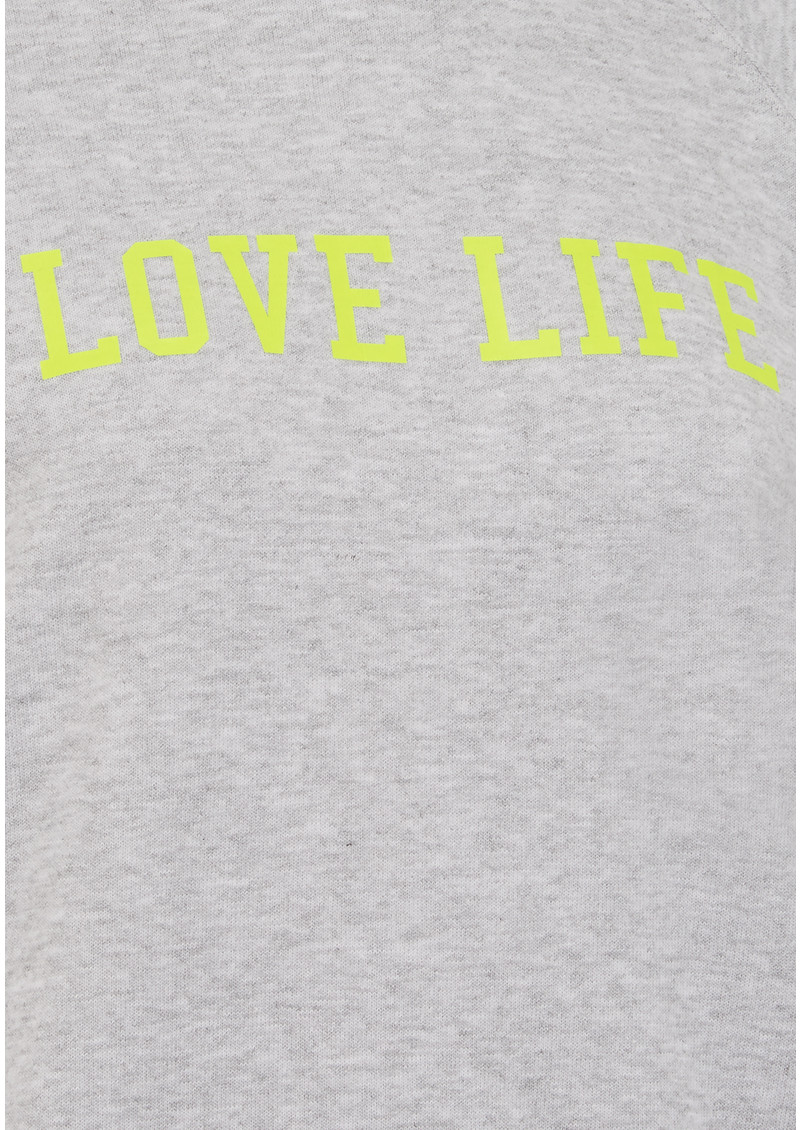 ON THE RISE Love Life Jumper - Grey Melange & Neon Yellow main image