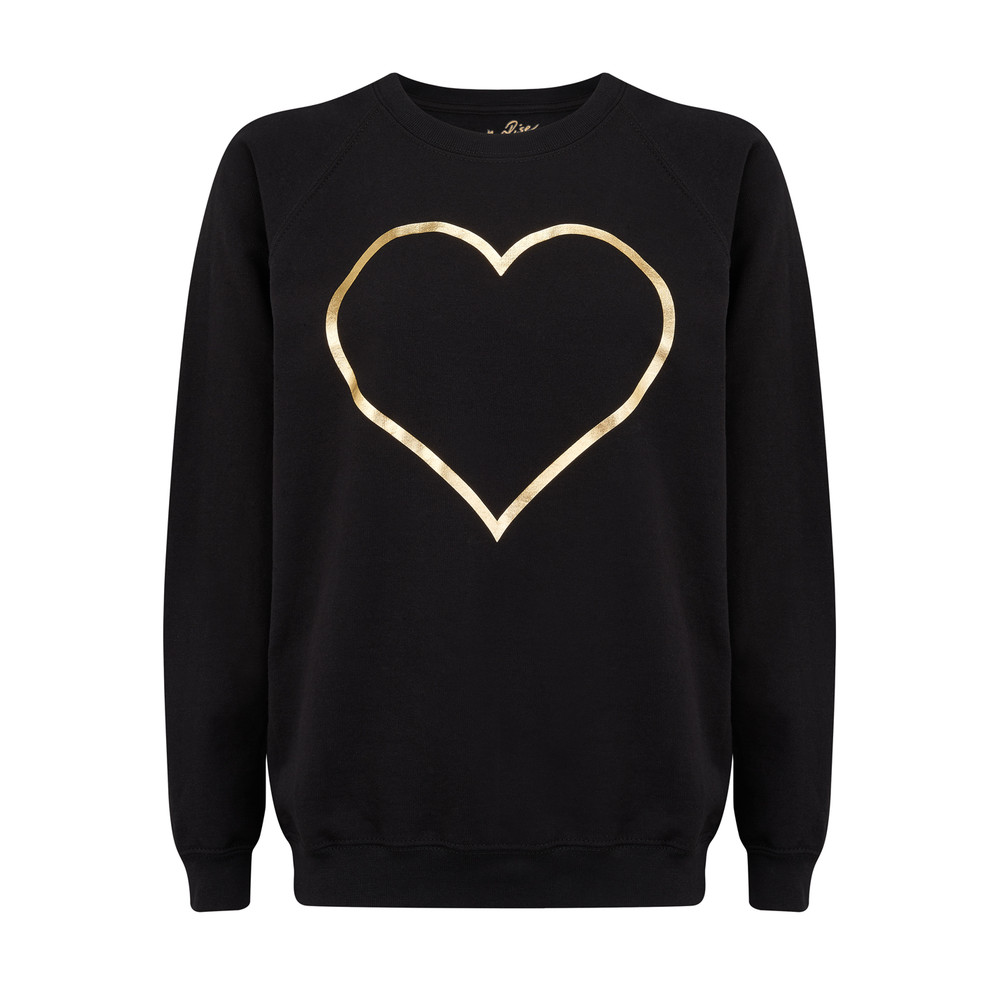 Heart Jumper - Black & Gold