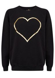 ON THE RISE Heart Jumper - Black & Gold