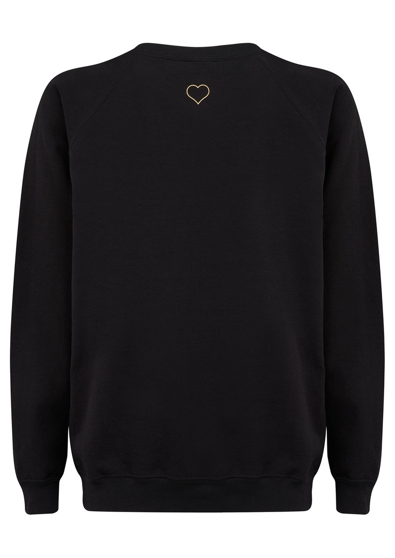 ON THE RISE Heart Jumper - Black & Gold main image