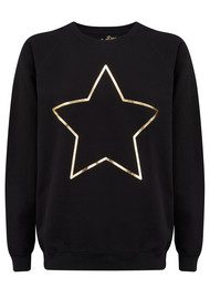 ON THE RISE Star Jumper - Black & Gold