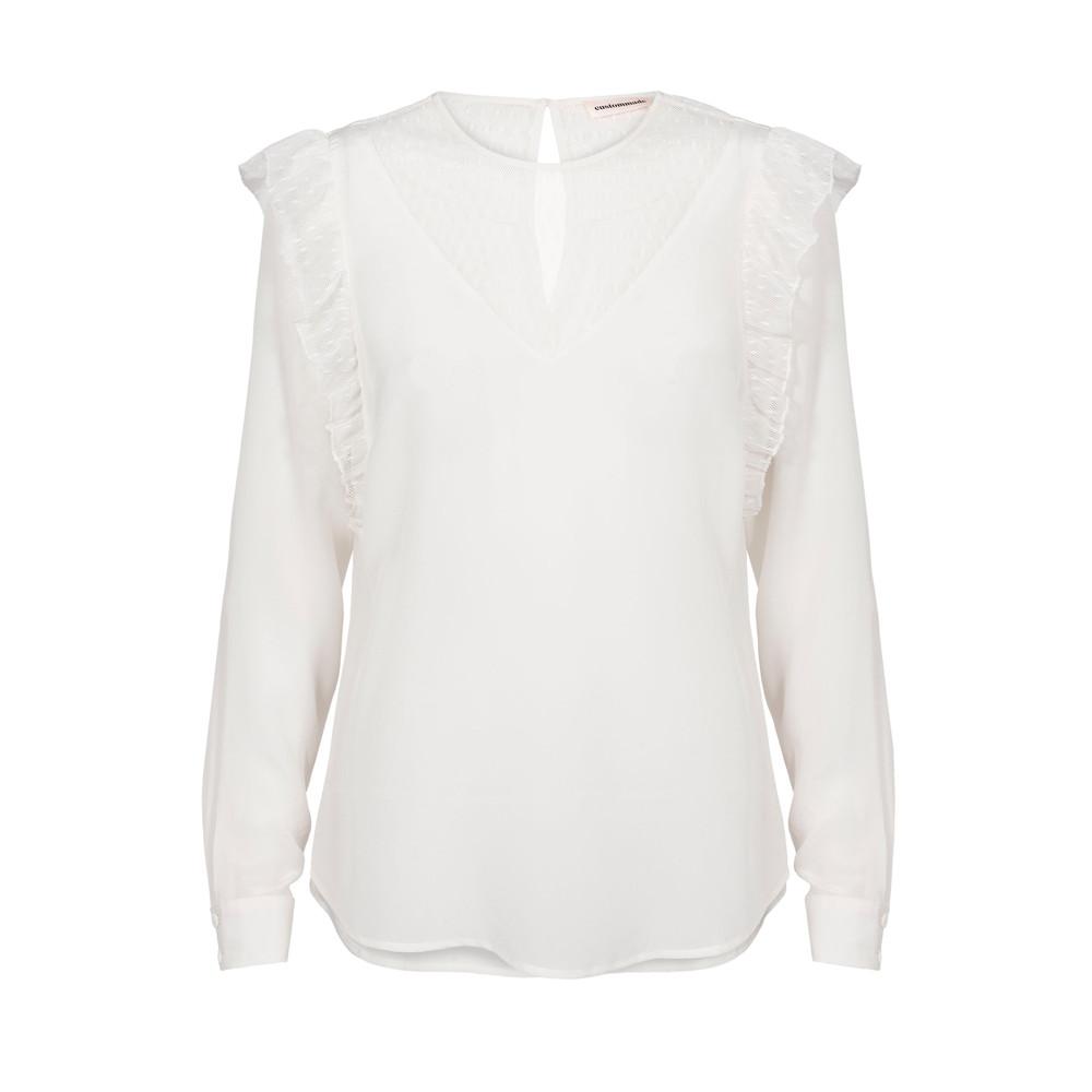 Henriette Silk Shirt - Whisper White