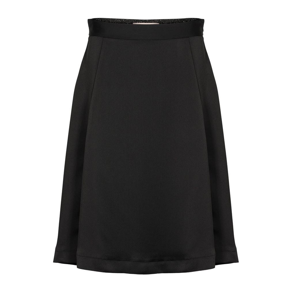 Elma Flared Skirt - Anthracite Black