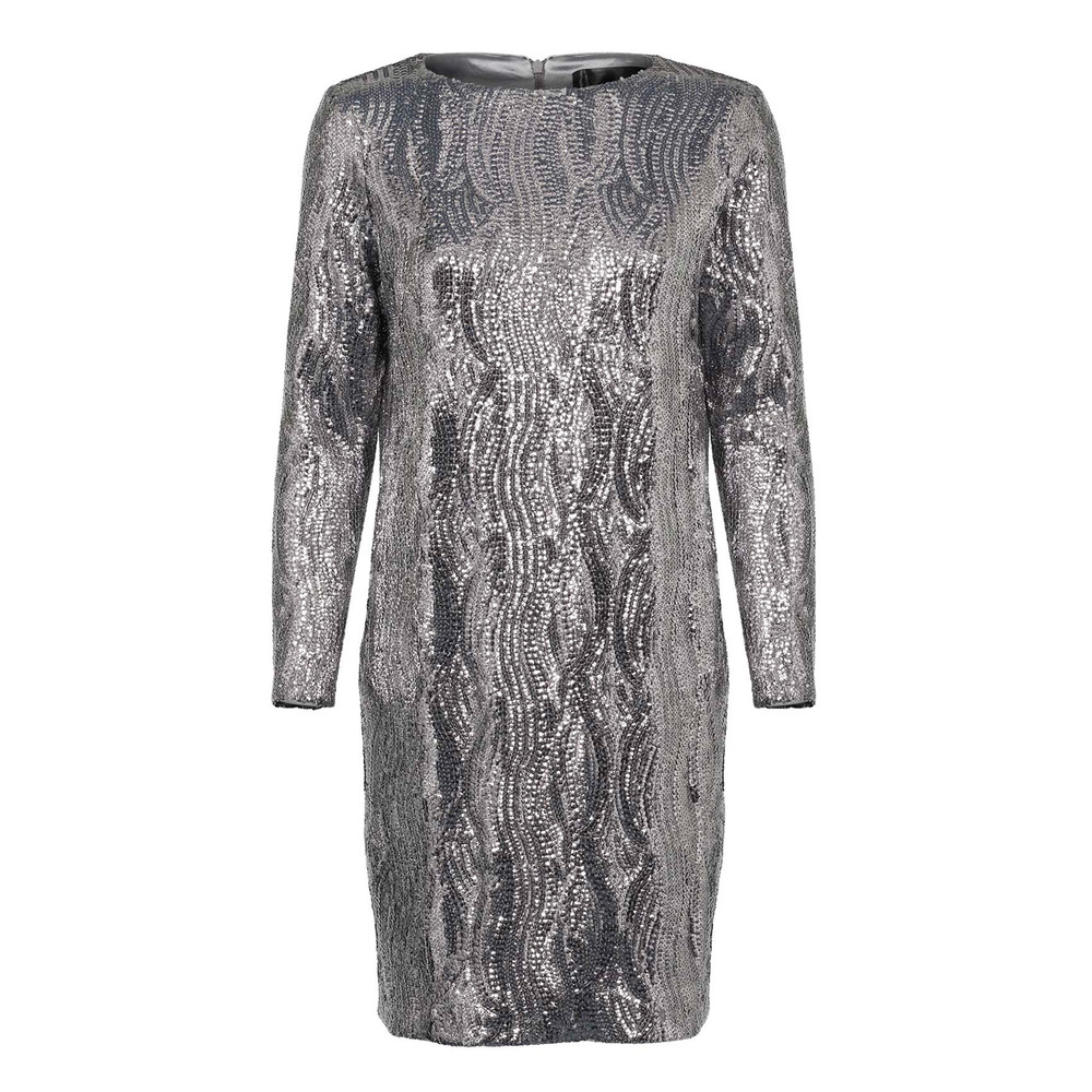 Gisele Sequin Dress - Silver