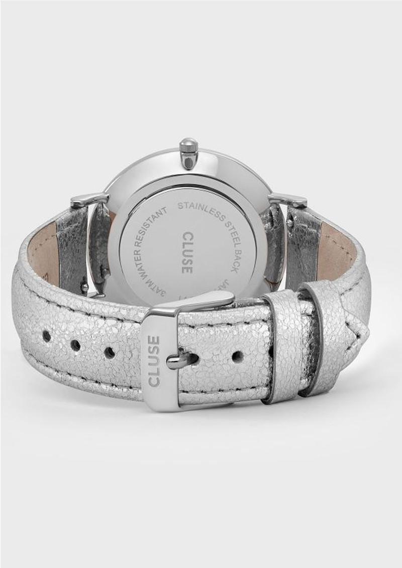 CLUSE La Boheme Metallic Watch - Silver & White main image
