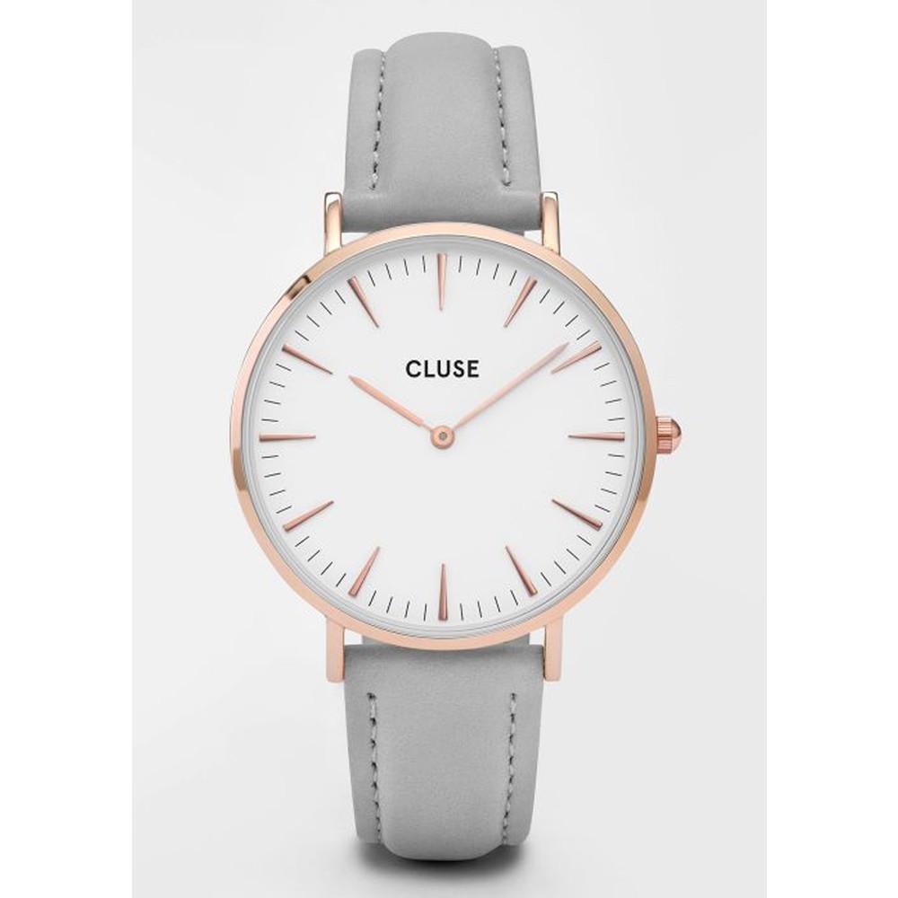 La Boheme Rose Gold Watch - White & Grey