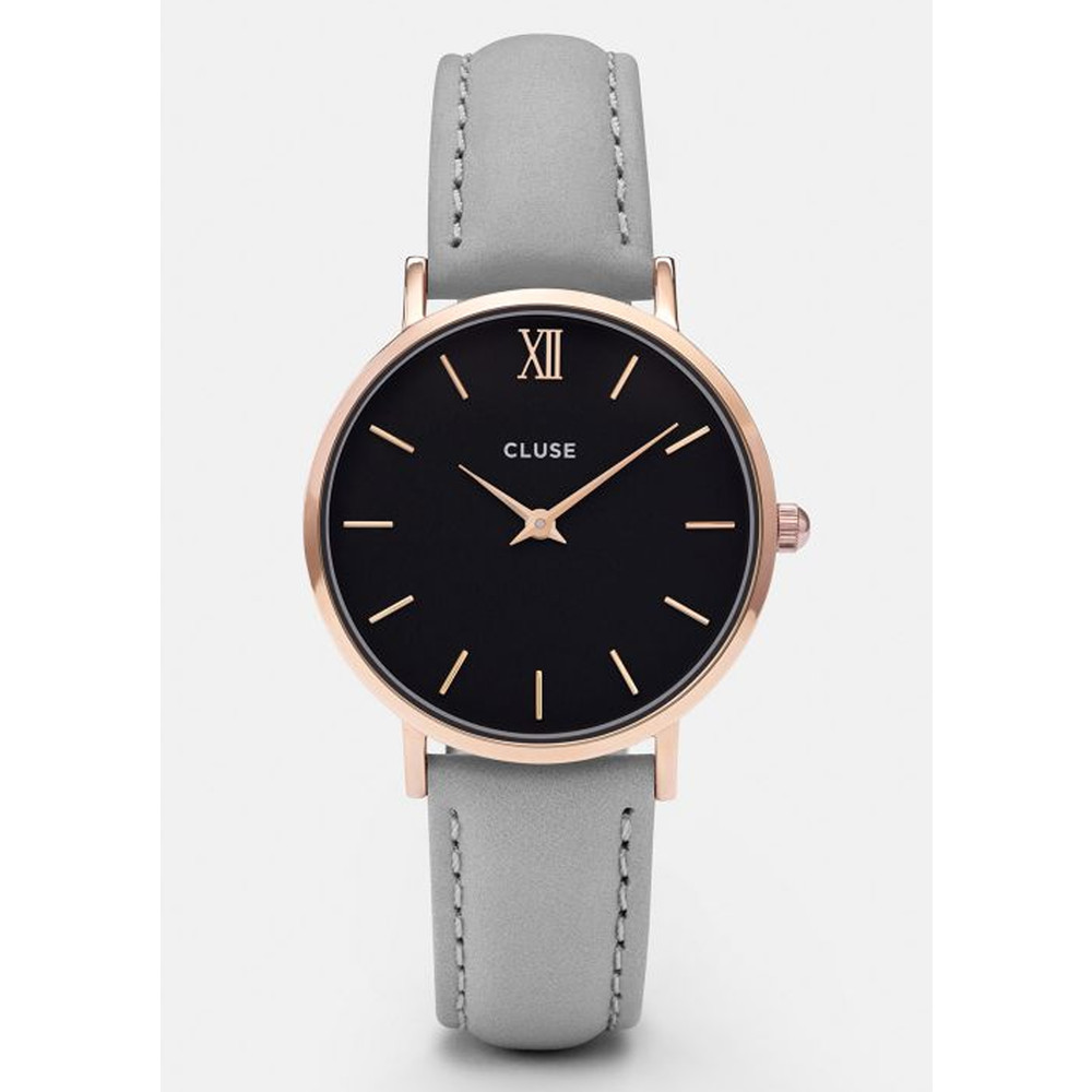 Minuit Rose Gold Watch - Black & Grey