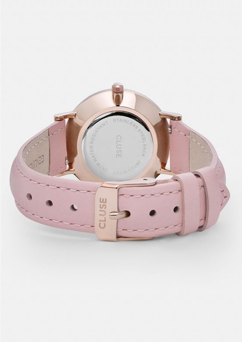 cluse minuit rose gold watch white pink. Black Bedroom Furniture Sets. Home Design Ideas