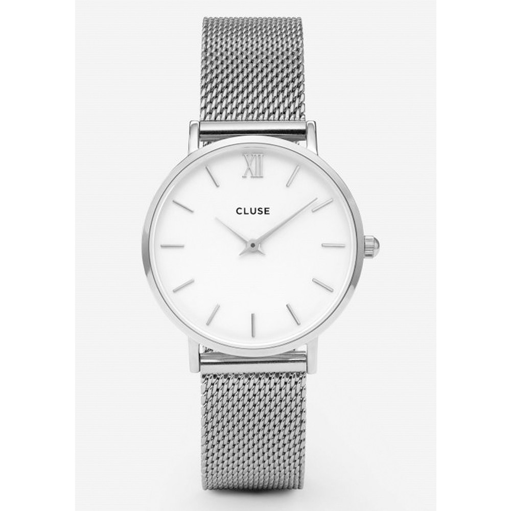 Minuit Mesh Watch - Silver & White