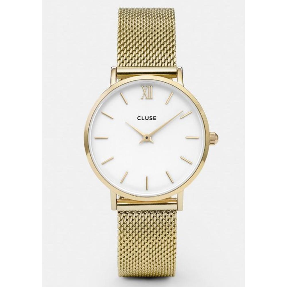 Minuit Mesh Watch - Gold & White
