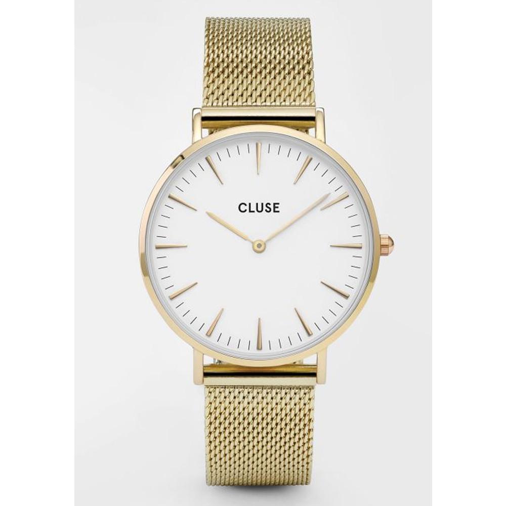 La Boheme Mesh Watch - Gold & White
