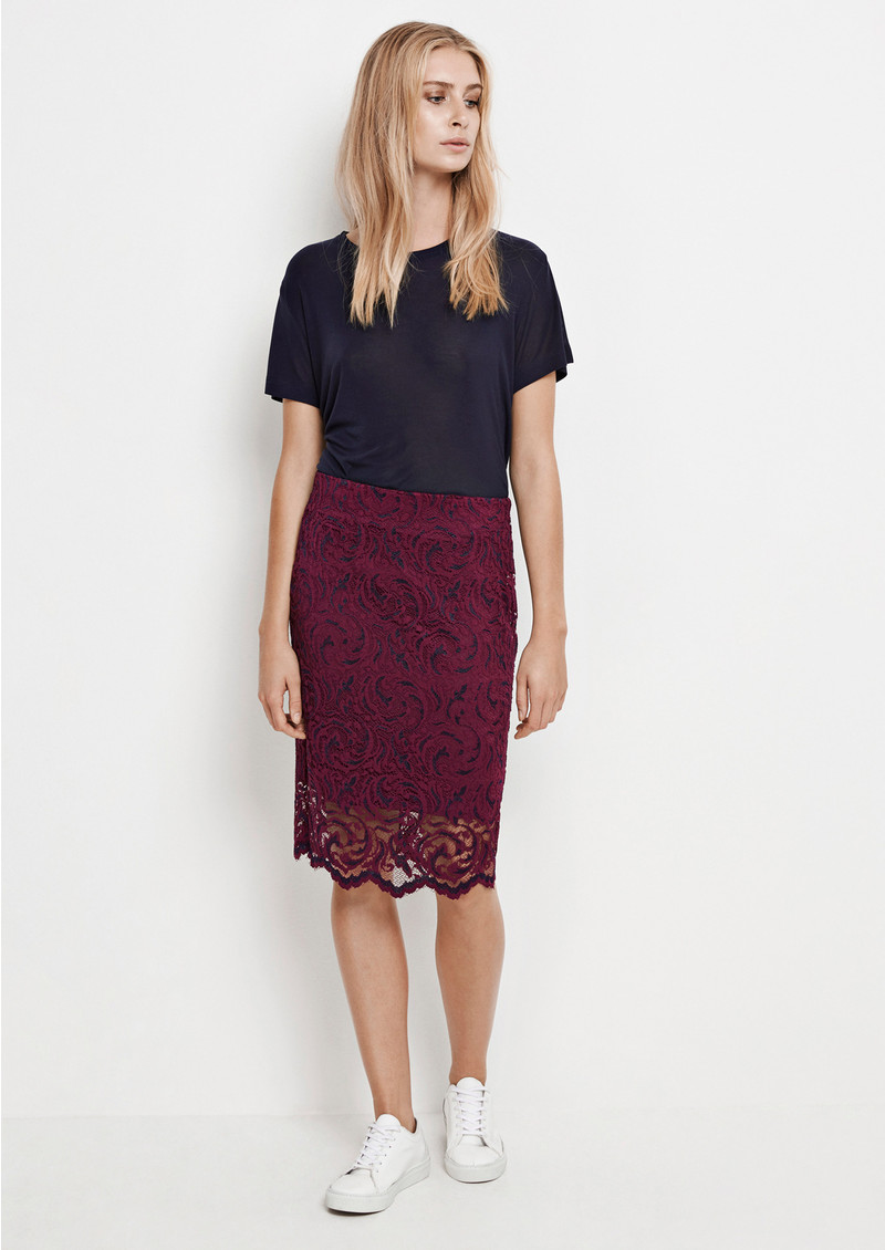 SAMSOE & SAMSOE Alia Skirt - Dark Purple main image