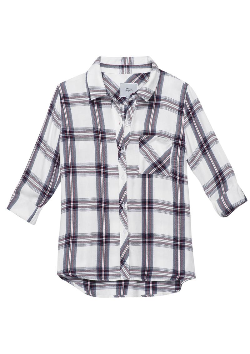 Rails Hunter Shirt - White & Scarlet main image