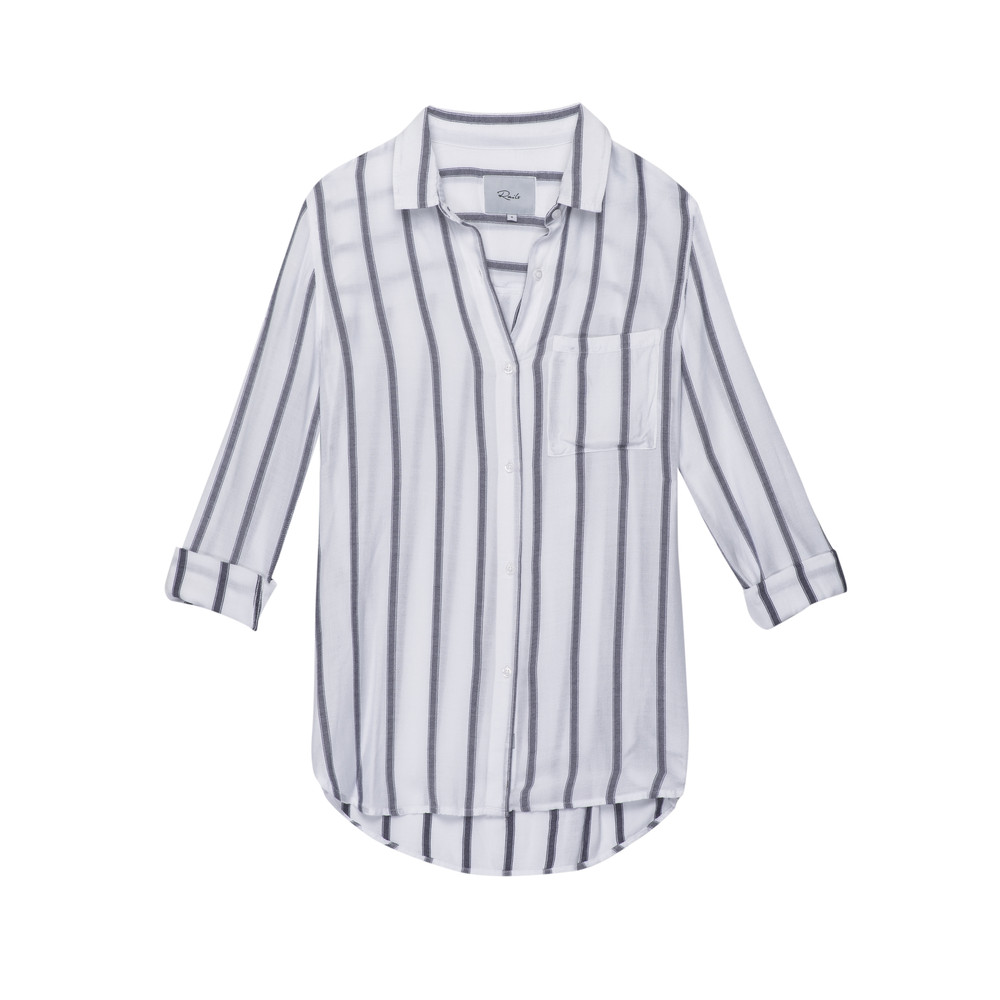 Aly Long Sleeve Shirt - White & River
