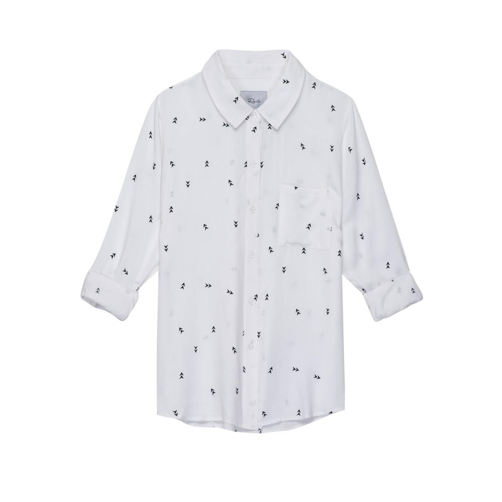 Rocsi Arrow Long Sleeve Shirt - White & black