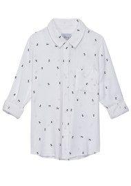 Rails Rocsi Arrow Long Sleeve Shirt - White & black