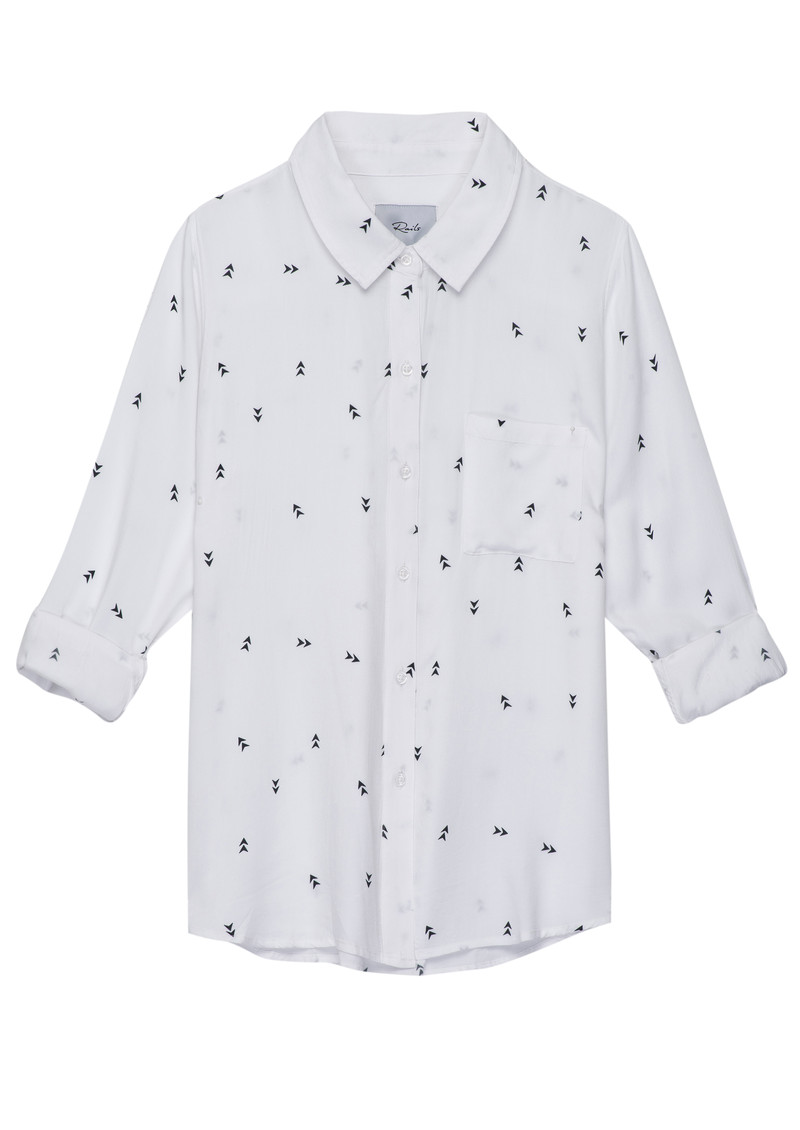 Rails Rocsi Arrow Long Sleeve Shirt - White & black main image