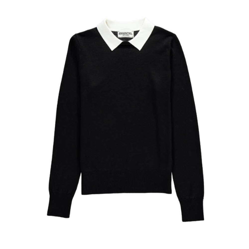 Nagoya Collared Sweater - Black