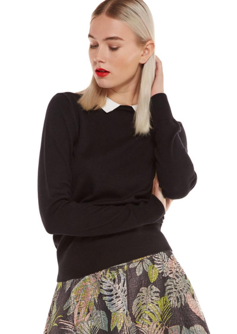 Essentiel Nagoya Collared Sweater - Black main image