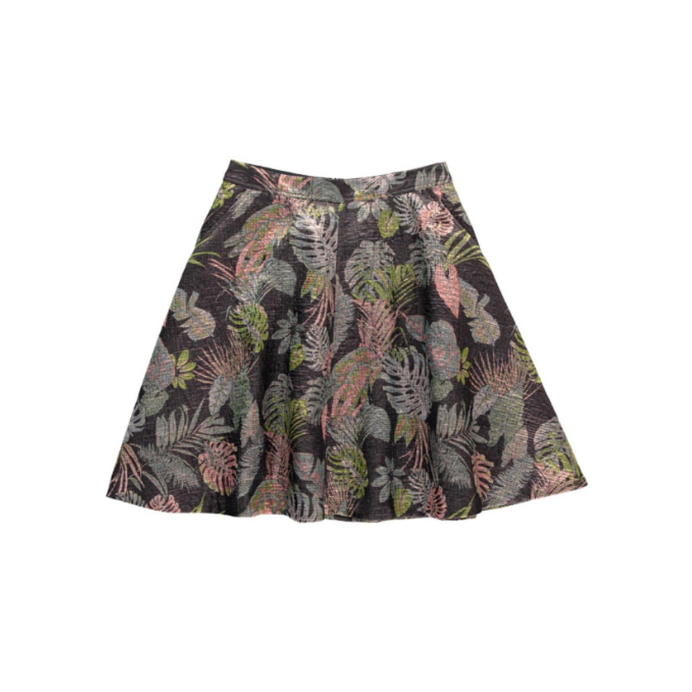 Nay Brocade Skirt - Black