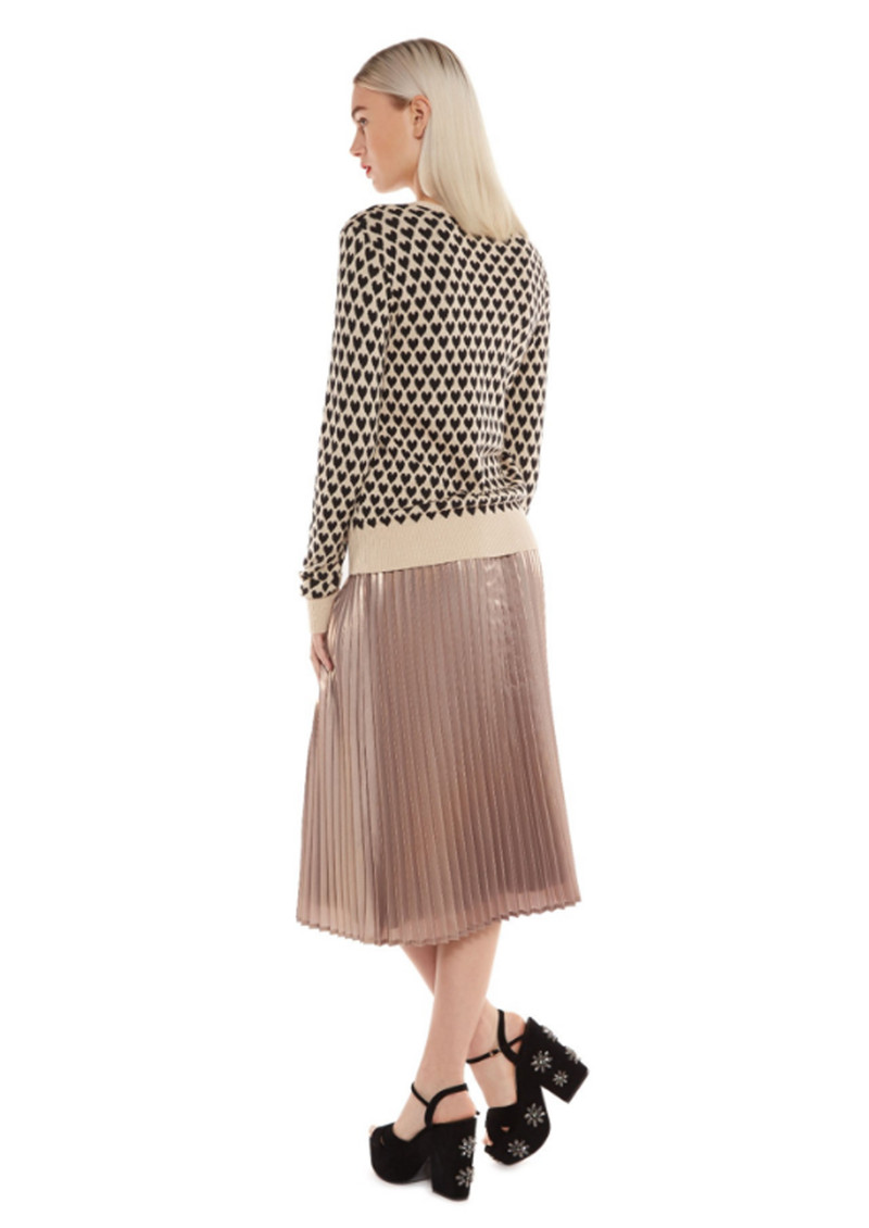 Essentiel Nis Pleated Midi Skirt - Dark Vanilla main image