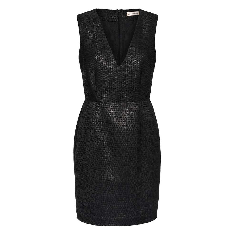 Menja Short Dress - Anthracite Black