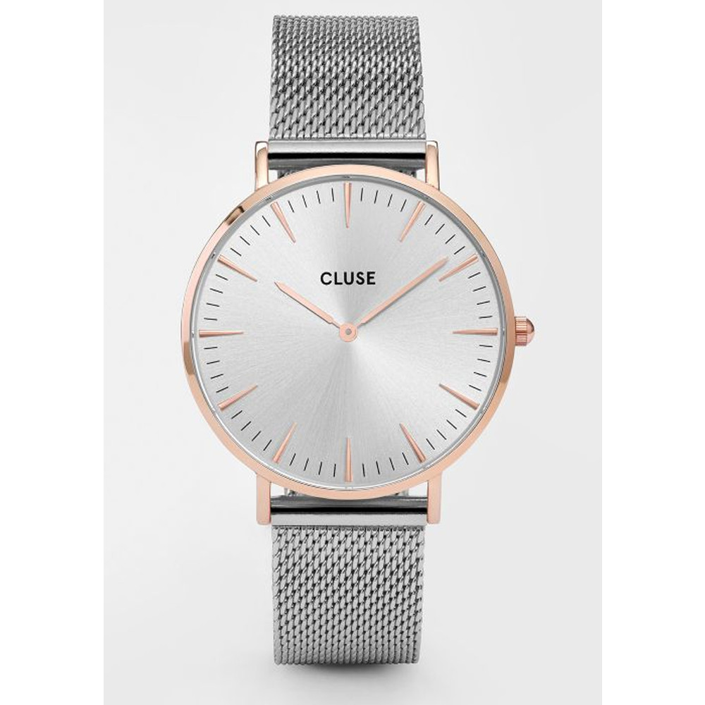 La Boheme Mesh Watch - Silver & Rose Gold