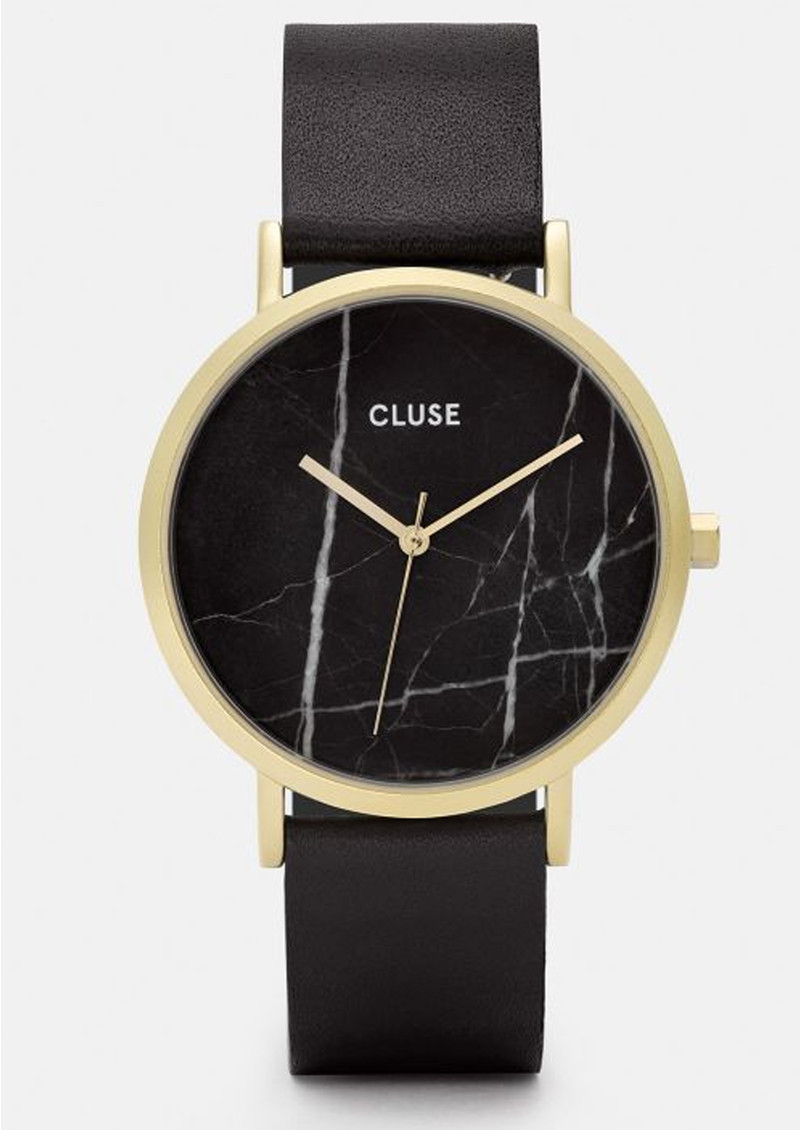 CLUSE La Roche Marble Watch - Black & Gold main image