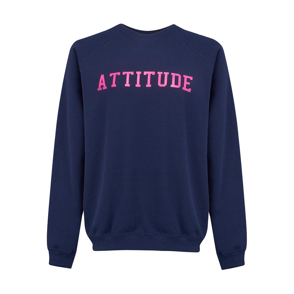 Attitude Jumper - Navy & Neon Pink
