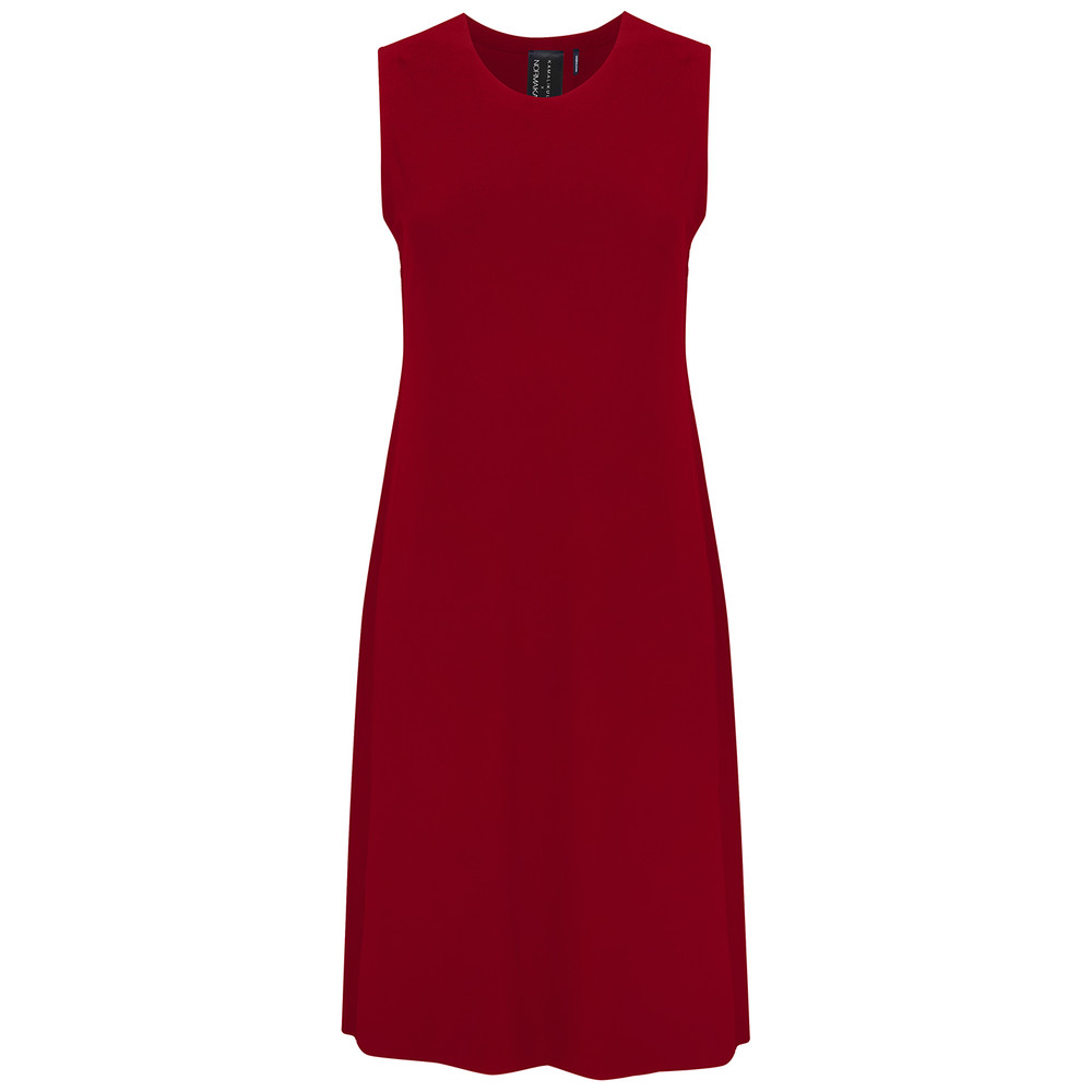 Sleeveless Swing Dress - Red