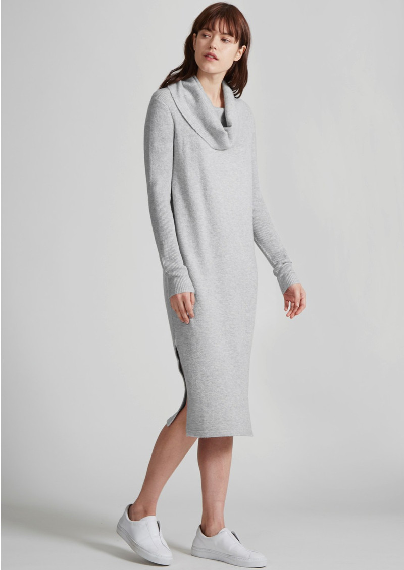 Great Plains Ottoman Midi Knitted Dress - Grey Mist main image