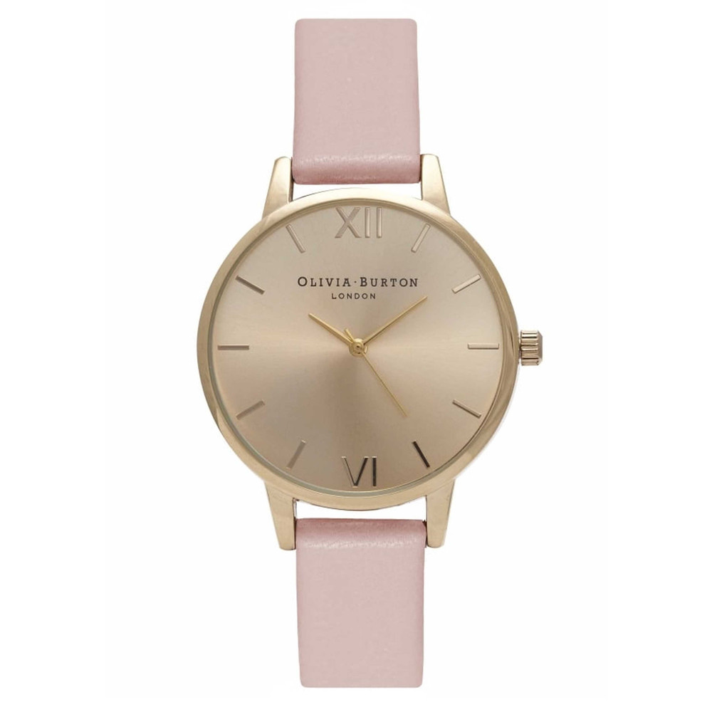 Midi Dial Watch - Dusty Pink & Gold