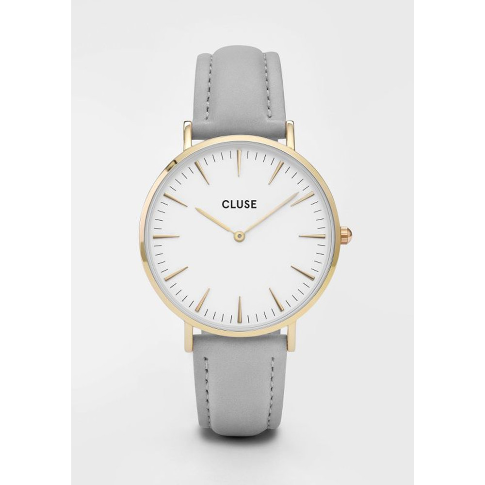 La Boheme Gold Watch - White & Grey