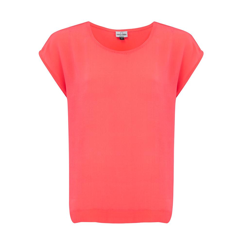 Blair Top - Neon Coral