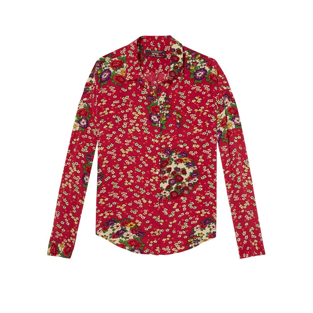 Long Sleeve Shirt - Oriental Flower Print