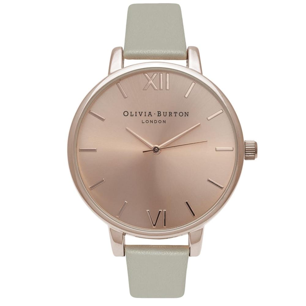 Big Dial Watch - Grey & Rose Gold