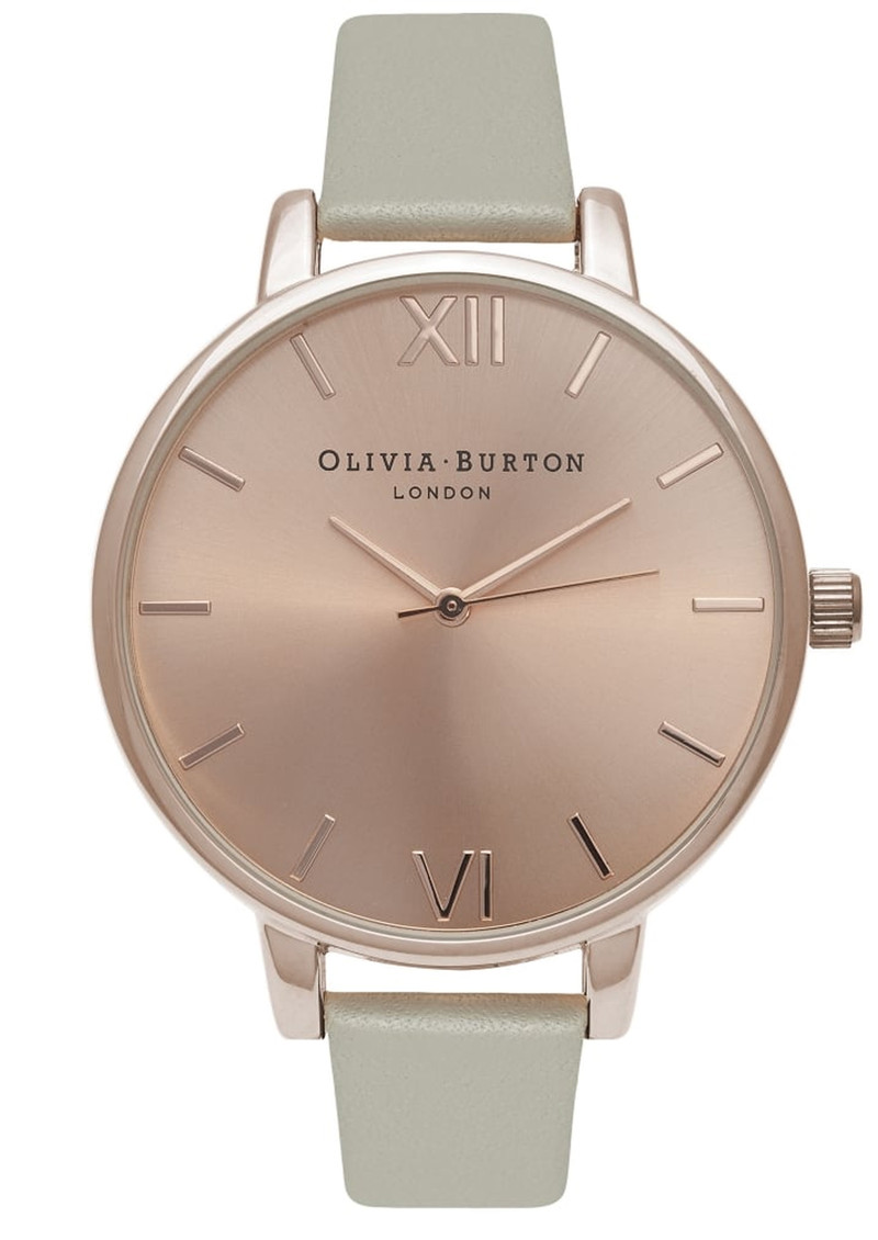 Olivia Burton Big Dial Watch - Grey & Rose Gold main image
