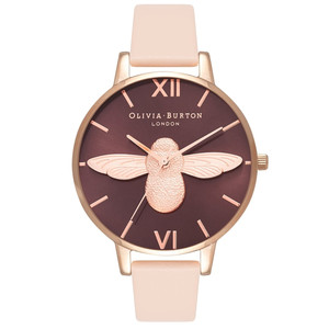 Moulded Bee Watch - Nude Peach & Rose Gold