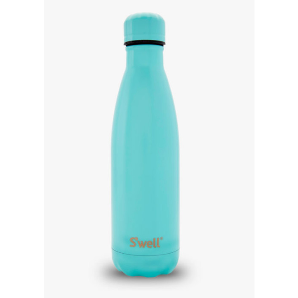 The Satin 17oz Water Bottle - Turquoise Blue