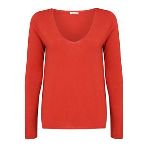 Blossom V Neck Sweater - Nasturium