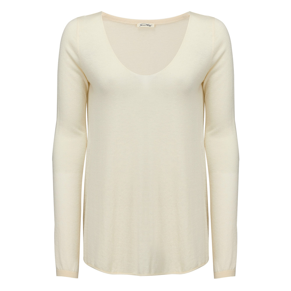 Blossom V Neck Sweater - Ivory Chine