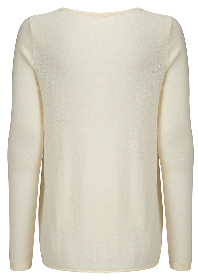 Blossom V Neck Sweater - Ivory Chine main image
