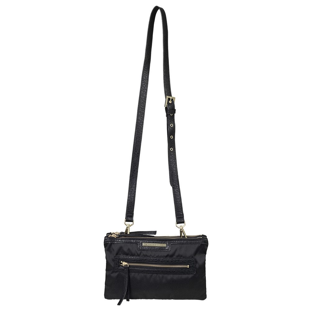 Day Zipper Cross Body Bag - Black