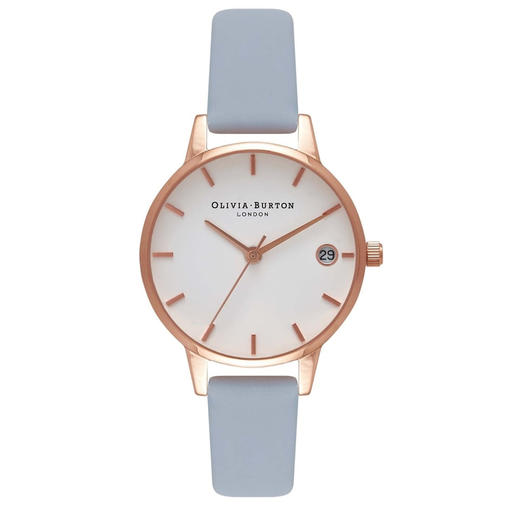 The Dandy Watch - Chalk Blue & Rose Gold