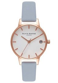 Olivia Burton The Dandy Watch - Chalk Blue & Rose Gold