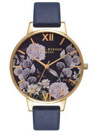 Olivia Burton Enchanted Garden Midnight Dial Watch - Gold