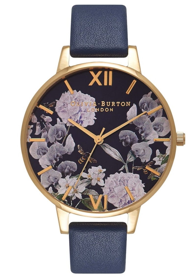 Olivia Burton Enchanted Garden Midnight Dial Watch - Gold main image
